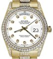 Rolex Rolex Yellow Gold Presidential 36MM Day Date Dial Diamond 18KT Gold Image 0