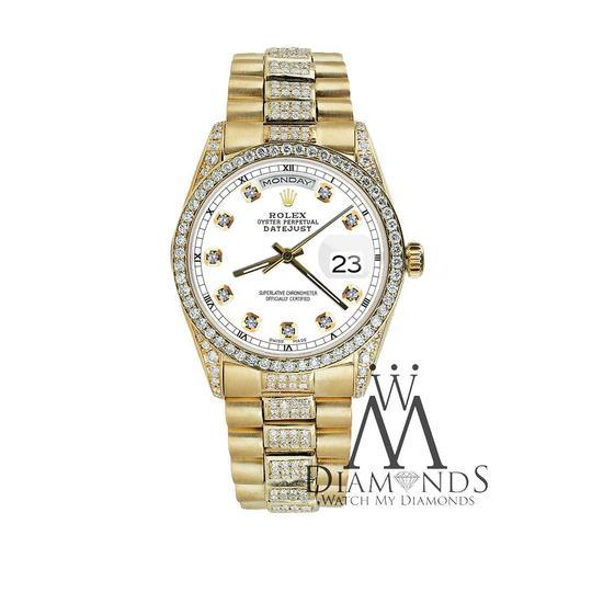 Rolex Rolex Yellow Gold Presidential 36MM Day Date Dial Diamond 18KT Gold Image 2