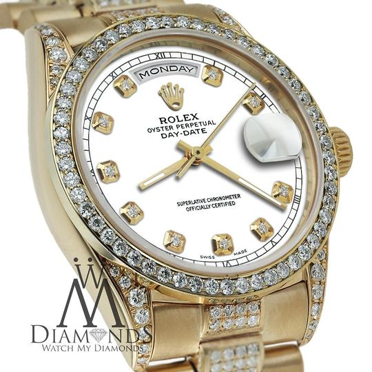 Rolex Rolex Yellow Gold Presidential 36MM Day Date Dial Diamond 18KT Gold Image 3
