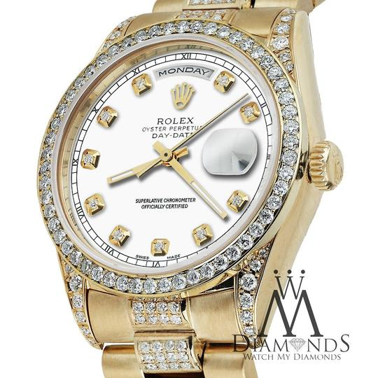 Rolex Rolex Yellow Gold Presidential 36MM Day Date Dial Diamond 18KT Gold Image 4