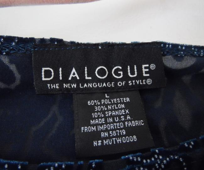 Dialogue Dialogue 2-PC Skirt and Tunic Set Blue Velor Polyester Blend Size 14L Image 11