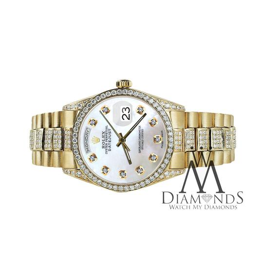 Rolex Rolex Presidential 36MM Day Date White Dial Diamond 18KT Yellow Gold Image 1