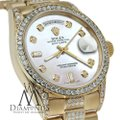 Rolex Rolex Presidential 36MM Day Date White Dial Diamond 18KT Yellow Gold Image 2