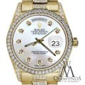 Rolex Rolex Presidential 36MM Day Date White Dial Diamond 18KT Yellow Gold Image 3