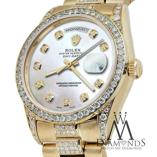 Rolex Rolex Presidential 36MM Day Date White Dial Diamond 18KT Yellow Gold Image 4