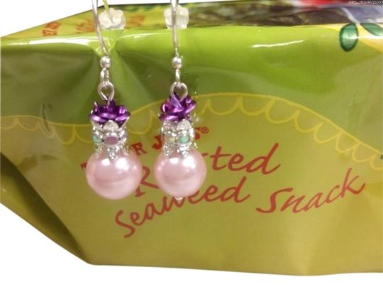 Preload https://img-static.tradesy.com/item/1606469/pink-purple-artisan-made-fish-hook-sterling-silver-ear-wires-fax-pearl-rose-earrings-0-0-540-540.jpg