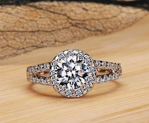 2ct Vvs1 All Sizes! 4 5 6 7 8 Halo Round Sona Nscd Engagement Pt950 Diamond Ring Proposal Band