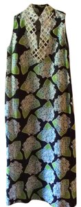 Navy with lighter blue and green Maxi Dress by Sail to Sable