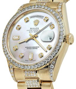 Rolex Rolex Presidential 36MM Day Date Tone Dial Diamond 18KT Yellow Gold