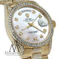 Rolex Rolex Presidential 36MM Day Date Tone Dial Diamond 18KT Yellow Gold Image 4