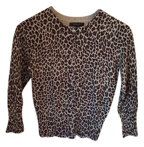 Express Leopard Black Cardigan