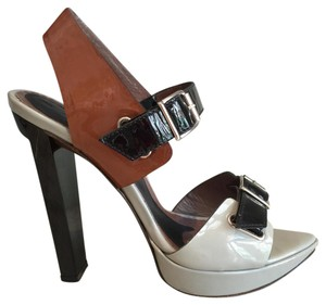 Marni Pump Grey/Black/Brown Platforms