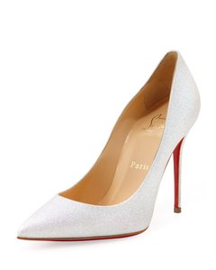 Christian Louboutin Decollete White/Glitter Pumps