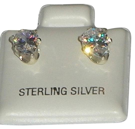 J Brand 925 Sterling Silver 8mm Genuine Briolite Pear Cut Stud Earrings