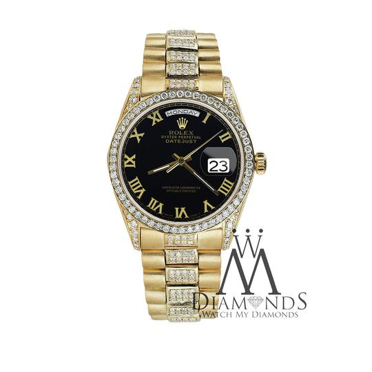 Rolex Rolex Presidential 36MM Day Date Black Roman Diamond 18 KT Yellow Gold Image 3
