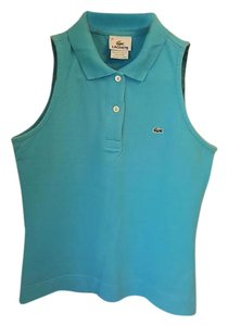 Lacoste Polo Shirt Top Turquoise Blue