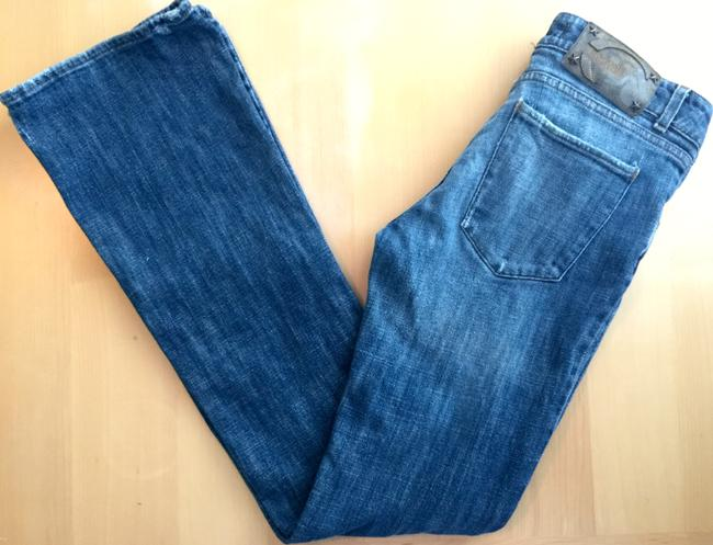 Just Cavalli Sexy Distressed Boot Cut Jeans Image 5