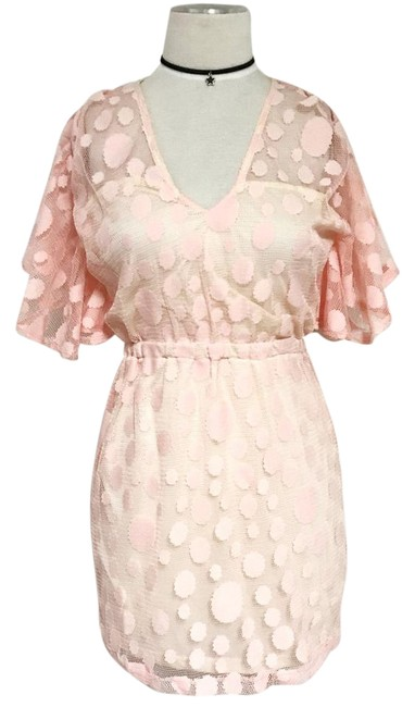 Preload https://img-static.tradesy.com/item/16065721/pink-lace-polka-above-knee-night-out-dress-size-8-m-0-8-650-650.jpg