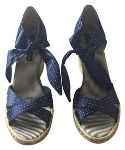Tommy Hilfiger Blue Wedges