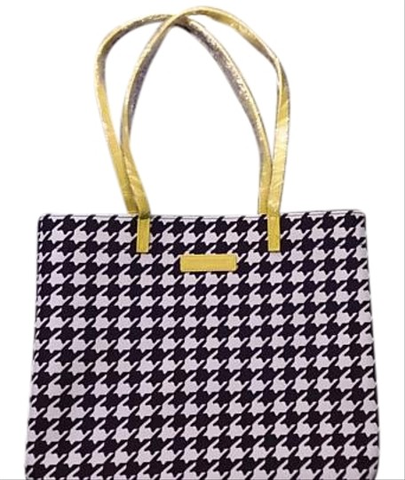Preload https://img-static.tradesy.com/item/16065769/vera-bradley-yellow-midnight-houndstooth-with-hello-yellow-trim-faux-leather-tote-0-1-540-540.jpg