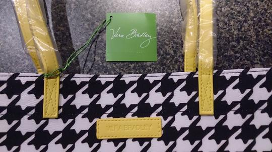 Vera Bradley Practical Durable Tote in Midnight Houndstooth with Hello Yellow Trim Image 1