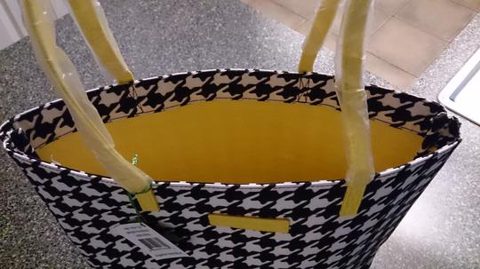 Vera Bradley Practical Durable Tote in Midnight Houndstooth with Hello Yellow Trim Image 3