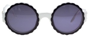 Chanel RARE VINTAGE CHANEL BLACK AND WHITE ROUND SUNGLASSES AS SEEN ON RIHANNA