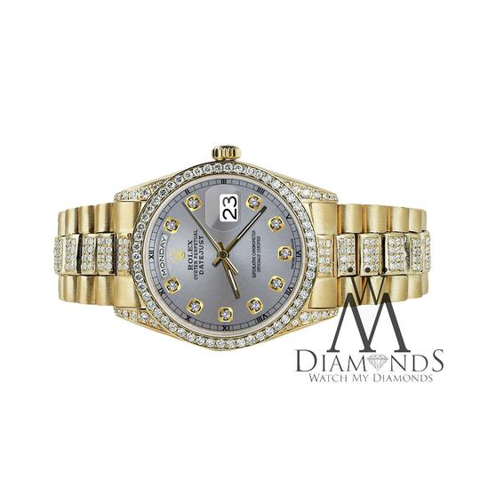 Rolex Rolex Presidential 36MM Day Date Grey Dial Diamond 18 KT Yellow Gold Image 1