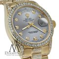 Rolex Rolex Presidential 36MM Day Date Grey Dial Diamond 18 KT Yellow Gold Image 3