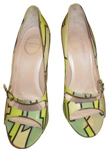 Emilio Pucci multi/green (signed) Pumps