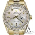 Rolex Rolex Presidential Day-Date Silver Dial Diamond 18 KT Yellow Gold Image 2