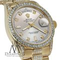 Rolex Rolex Presidential Day-Date Silver Dial Diamond 18 KT Yellow Gold Image 4