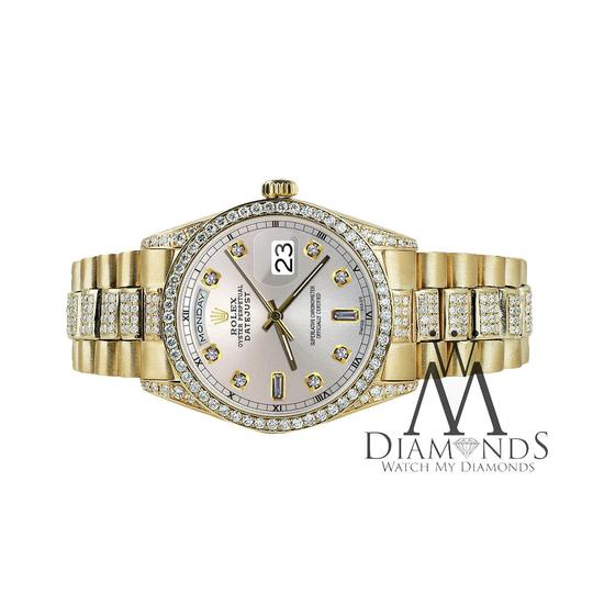 Rolex Rolex Presidential Day-Date Silver Dial Diamond 18 KT Yellow Gold Image 5