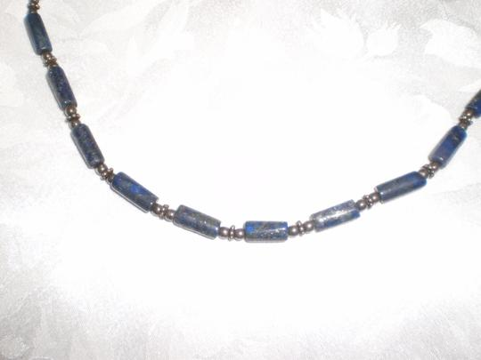 Other Mid-night blue w/gold flecks necklace