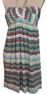 Trina Turk short dress Multi colored chevron print on Tradesy