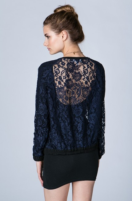 Finders Keepers Top Lace Navy Blue Jacket Image 1