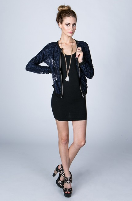 Finders Keepers Top Lace Navy Blue Jacket Image 2