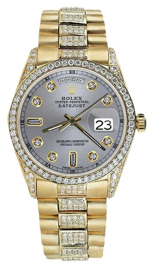 rolex yellow gold presidential day date 36mm silver. Black Bedroom Furniture Sets. Home Design Ideas