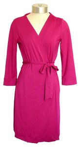 Diane von Furstenberg Knit Classic Pink Berry Dress