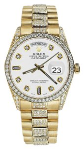 Rolex Rolex Yellow Gold Presidential Day-Date 36MM White Diamond 18 KT Gold