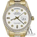 Rolex Rolex Yellow Gold Presidential Day-Date 36MM White Diamond 18 KT Gold Image 1
