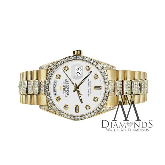 Rolex Rolex Yellow Gold Presidential Day-Date 36MM White Diamond 18 KT Gold Image 3