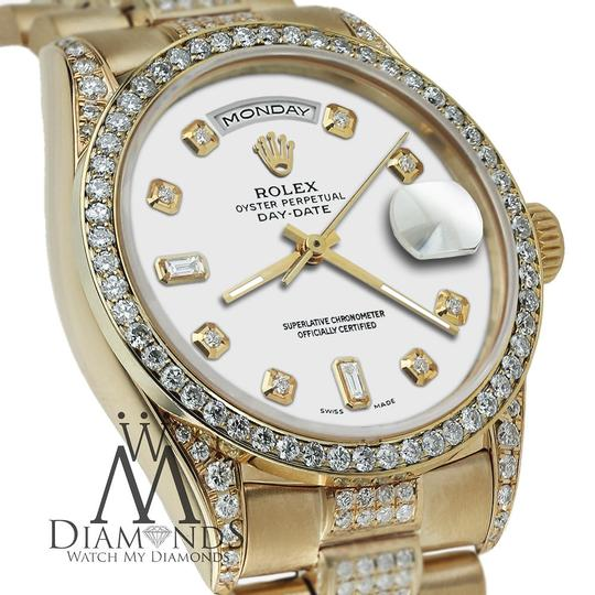 Rolex Rolex Yellow Gold Presidential Day-Date 36MM White Diamond 18 KT Gold Image 4