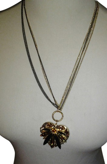 Betsey Johnson Betsey Johnson Tricolor chain glittering Heart Locket Image 0
