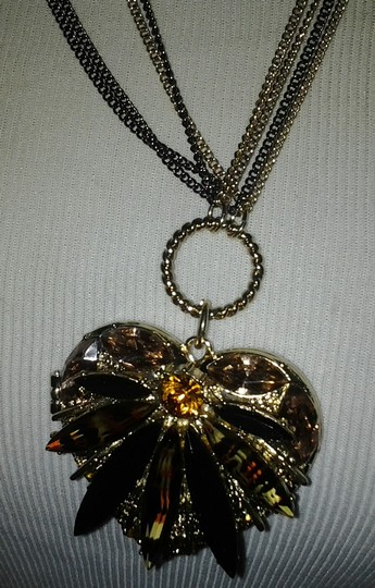 Betsey Johnson Betsey Johnson Tricolor chain glittering Heart Locket Image 1
