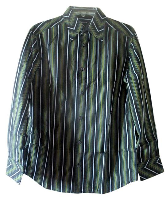 Preload https://img-static.tradesy.com/item/16067065/liz-claiborne-black-and-green-and-white-stripes-button-down-top-size-6-s-0-1-650-650.jpg