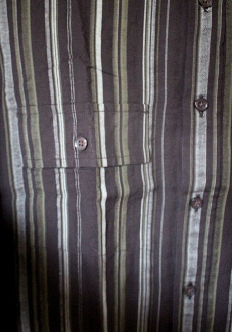 Kenneth Cole Reaction Striped Shirt Mens Shirt Stripes Button Down Shirt Black / Green / Grey Image 2