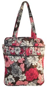 Vera Bradley Tote in Mocha Rouge Pink Brown