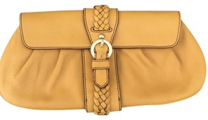 Banana Republic Mustard Clutch