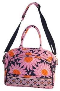 Vera Bradley Satchel in Loves Me Pink Orange Black